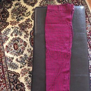 Checker patterned dress pants!